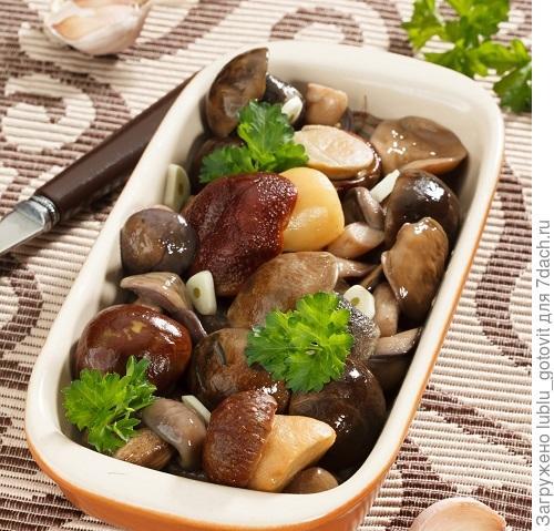 Соленые грибы с чесноком
