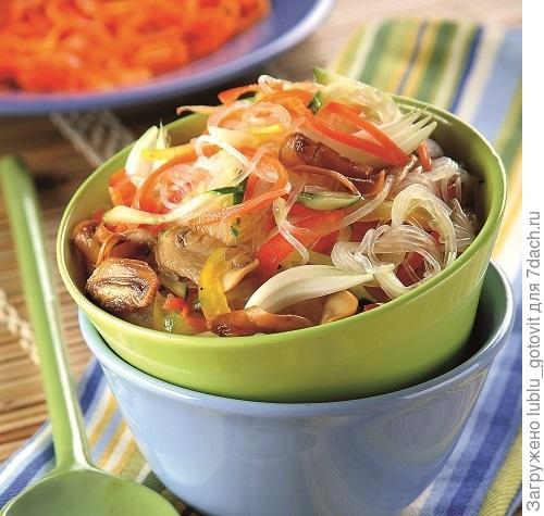 Салат из лапши