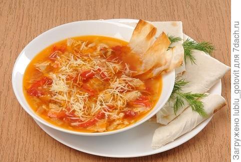 Куриный суп с овощами и лавашом  Фото: А. Соколов/BurdaMedia