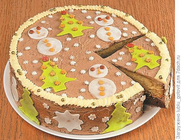 """Новогодний торт """"Лесная сказка"""" Фото: А. Соколов/BurdaMedia"""