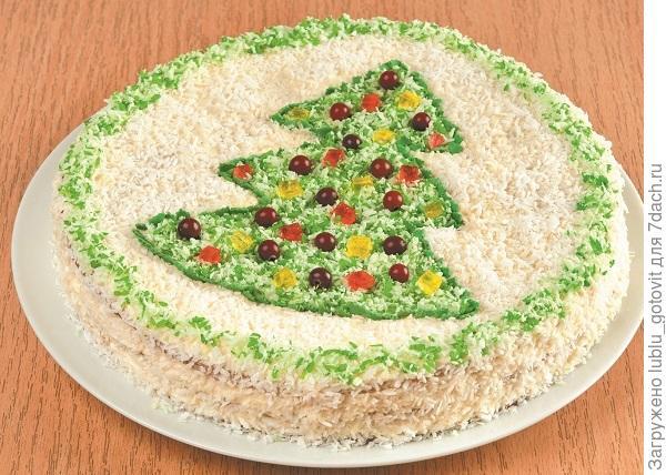 "Новогодний торт ""Зимняя сказка"" Фото: А. Соколов/BurdaMedia"