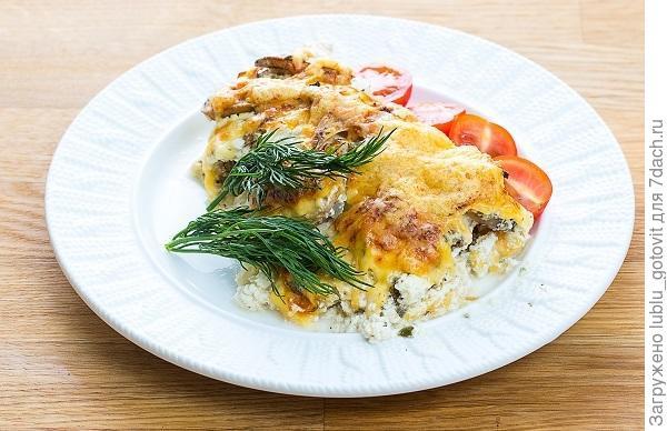 Куриное филе, запеченное с грибами и сыром  Фото: К. Виноградов/BurdaMedia