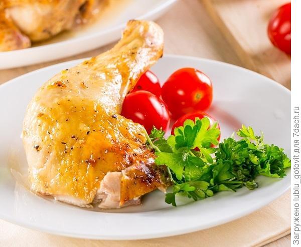 Запеченная курица с имбирем и медом Фото: К. Виноградов/BurdaMedia