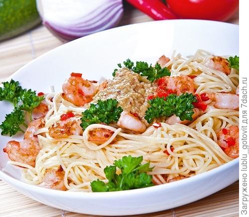 Спагетти с креветками Фото: К. Виноградов/BurdaMedia