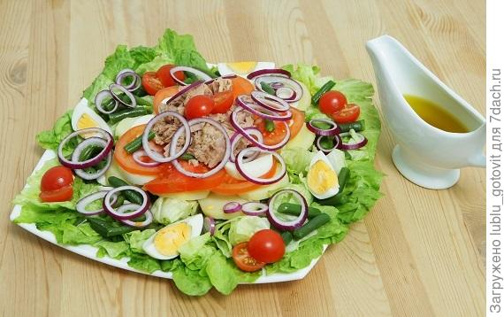 Зеленый салат с тунцом.  Фото: А. Карпенко/BurdaMedia