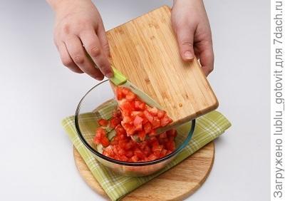 Шаг 4. Выкладываем овощи