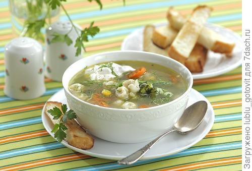 Овощной суп с пельменями.  Фото: Дмитрий Королько/BurdaMedia