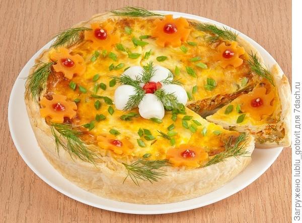 Открытый пирог с кабачками/Фото: А. Соколов/BurdaMedia