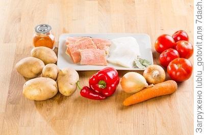 Ингредиенты для рыбного супа