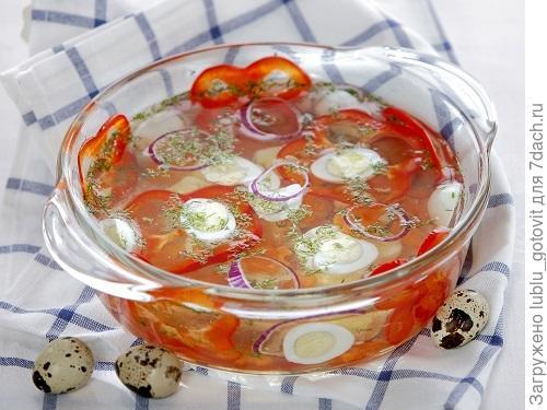Заливное из перепелиных яиц/Фото: Дмитрий Королько/BurdaMedia
