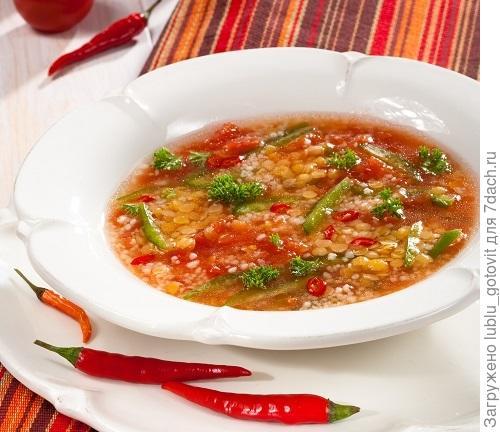Томатный суп с кускусом/Фото: Олег Кулагин/BurdaMedia