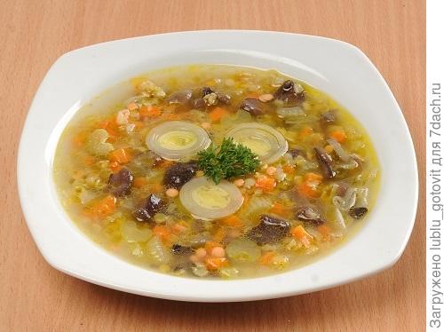 Суп с сушеными грибами и чеччевицей/Фото: А. Соколов/BurdaMedia