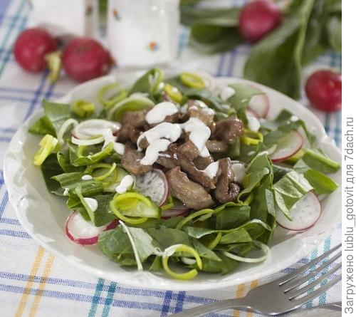 Салат с телятиной и шпинатом/Фото: Дмитрий Королько/BurdaMedia