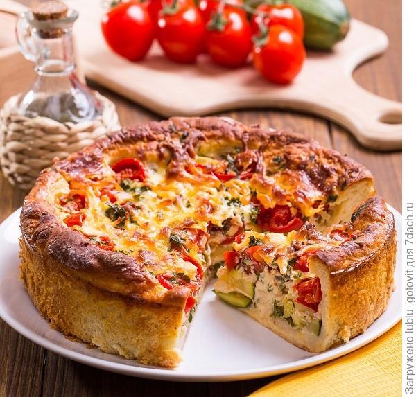 Открытый пирог с овощами/Фото: К. Виноградов/BurdaMedia