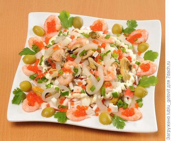 Салат с морепродуктами. Фото: А. Соколов/BurdaMedia