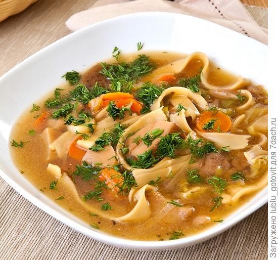 Грибной суп с домашней лапшой/Фото: К. Виноградов/BurdaMedia