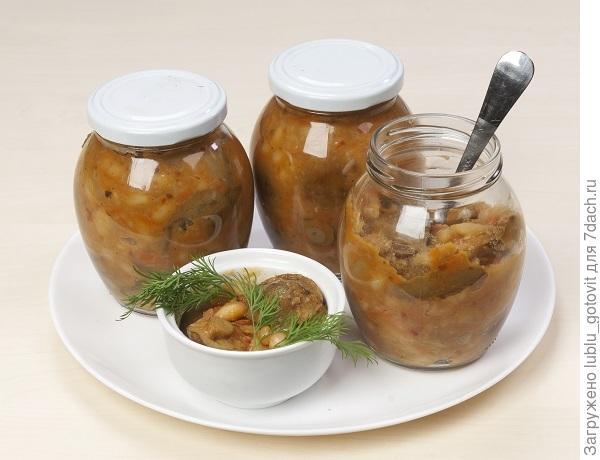 Грибной салат с фасолью/Фото: А. Нерубаев/BurdaMedia
