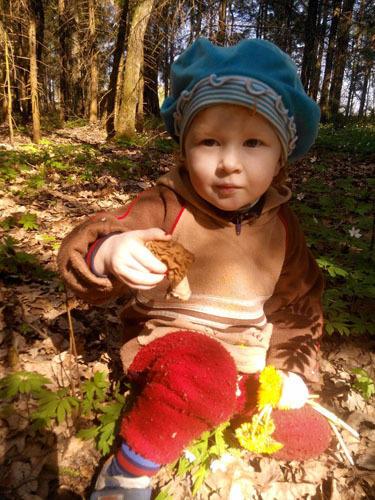 Захария нашла грибочек )))