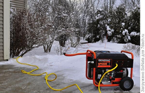 Компания Generac помимо традиционных, бензиновых (на фото) выпускает и газовые модели. Их главное достоинство — низкий уровень шума.