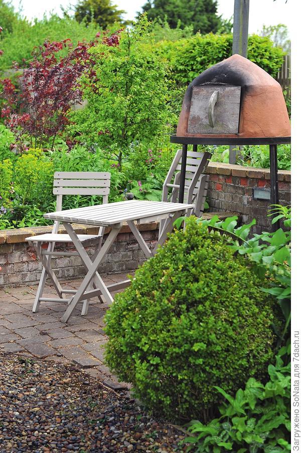 Садовая печь тоже может быть сделана из керамики, даже если она и не похожа на традиционный тандыр.