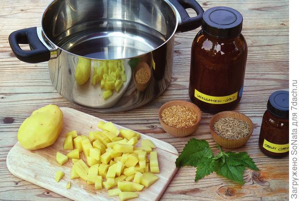 Этот ощелачивающий напиток готовится на основе картофеля, тмина и семени льна.