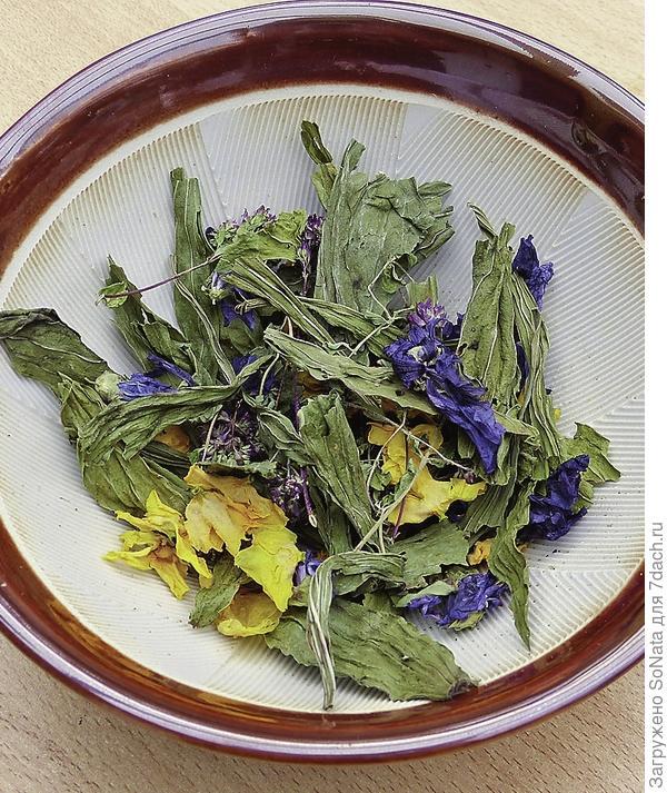 Высокое качество смеси можно распознать по большому количеству цельных листьев и цветков
