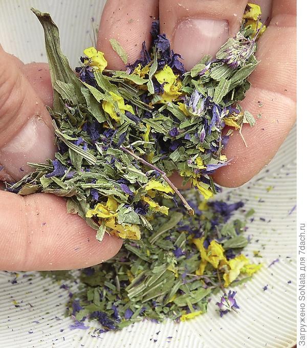 Измельчайте травы только непосредственно перед завариванием чая вручную или в ступке