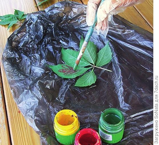 Сорвите несколько листьев любого растения или несколько стеблей трав, которые полностью отвечают вашему замыслу.
