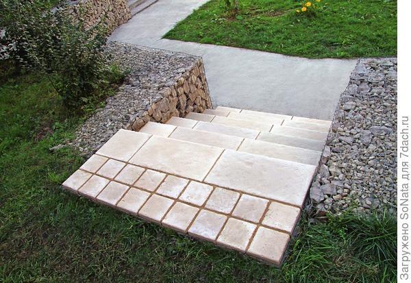 Ступени, использованные для создания объекта, сделаны из инновационного литьевого бетона
