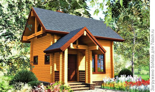 Деревянные стены толще бетонных при той же прочности, а значит, места внутри дома будет меньше.