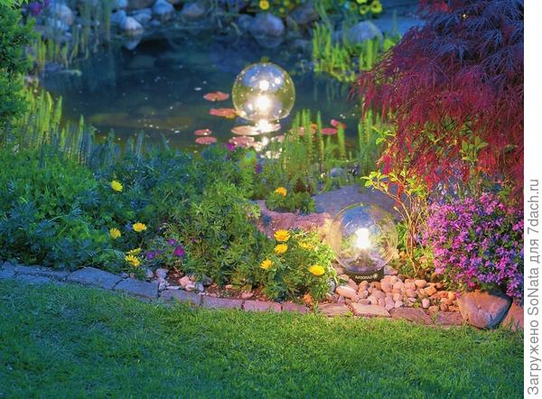 Светильники плавающие Gardena сделаны из ударопрочного пластика, устойчивого к воздействию температуры и атмосферных явлений.