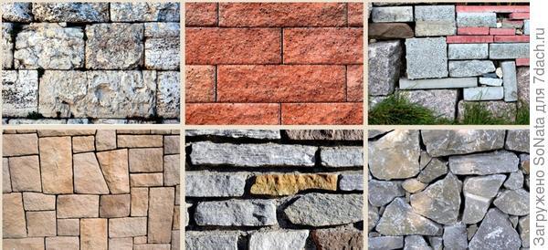 При укладке располагайте камни так, чтобы больше трех швов не сходилось вместе, а вертикальные швы проходили только через два ряда кладки, не более.