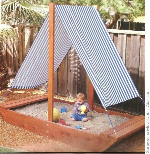 Детская площадка своими руками: фото-идеи 66