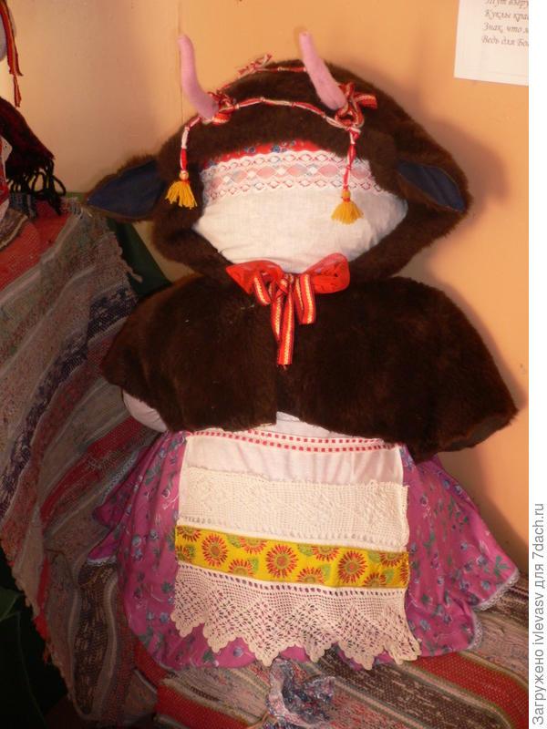 Куклу Козу делали на Рождество.