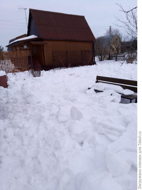 1. Весной помочь избавиться от снега:)