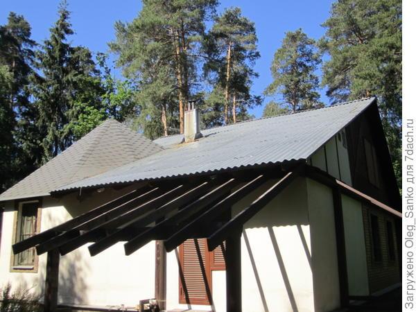 Крыша из профнастила без элементов снегозадержания