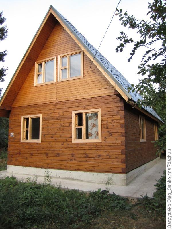 Дом сложен из профилированного бруса