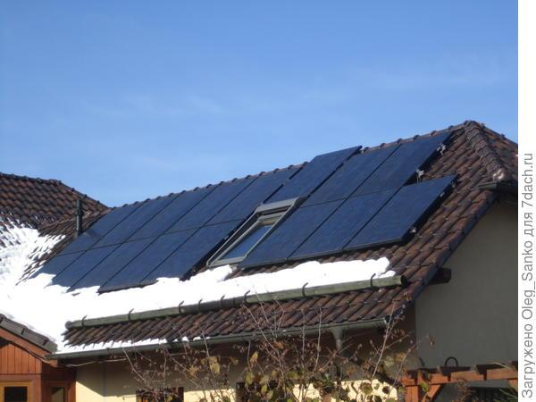Фотогальванические панели - неотъемлемый компонент энергоэффективного дома.