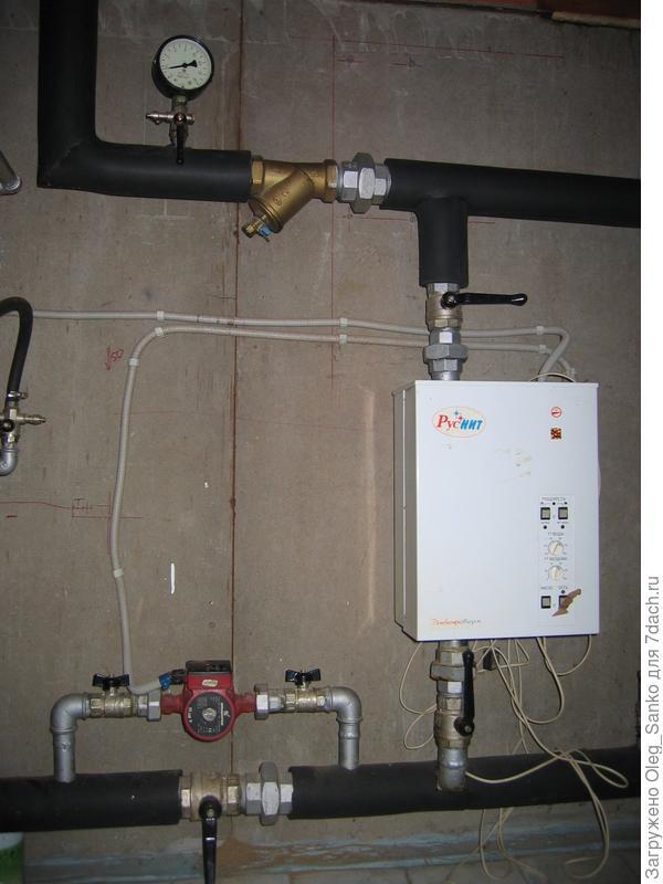Установка резервного электрокотла не потребует в подвале много места