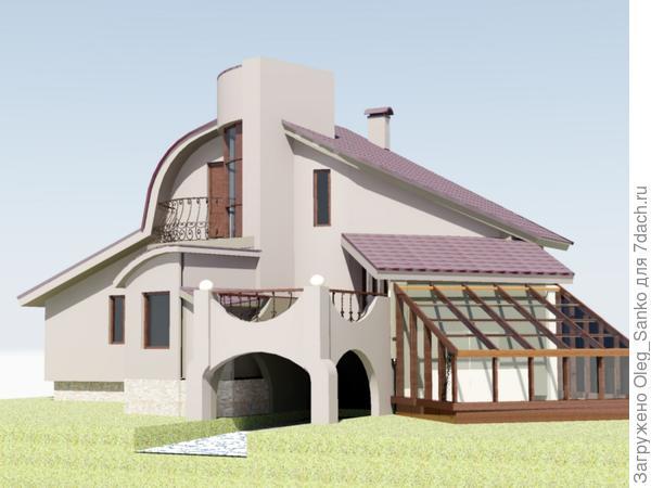 Вид на боковую часть дома