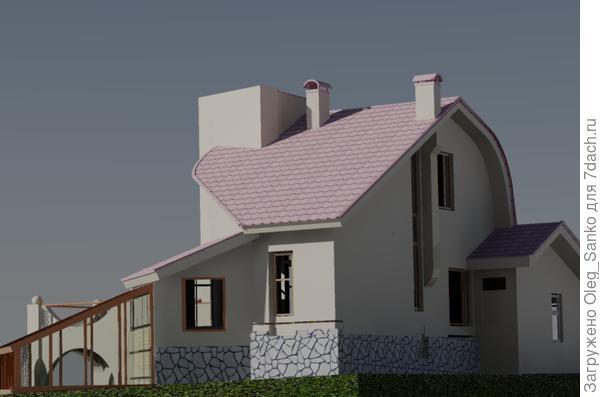 Вид на дом сзади