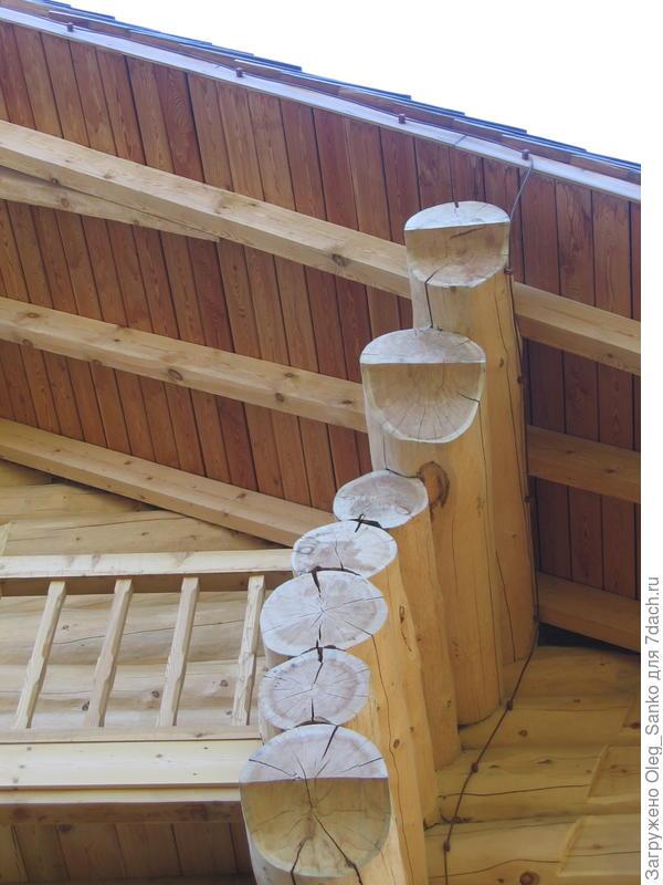 Фрагмент деревянного дома