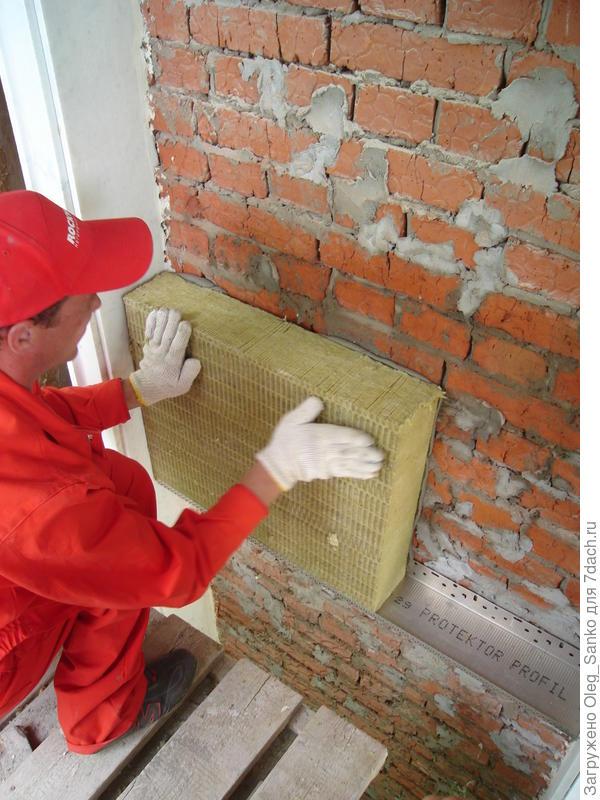 Монтаж 100 мм толщины плиты