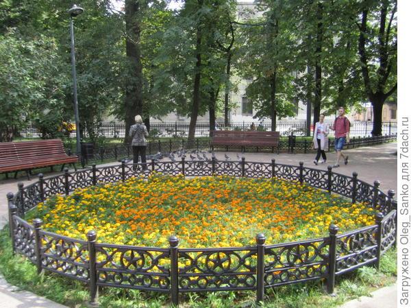 Раньше здесь стоял фонтан