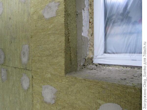 Обрамление окна утеплителем