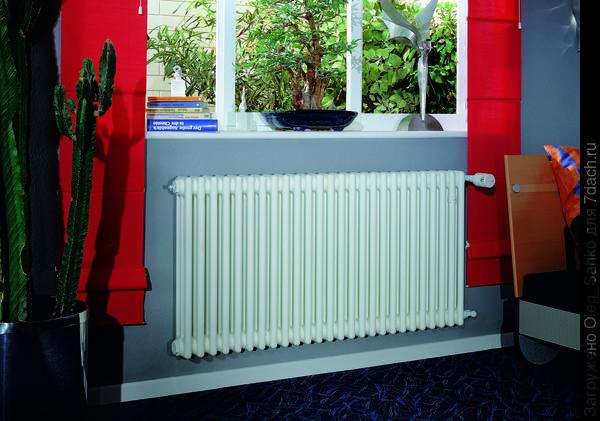 Отопительный радиатор оснащен теплорегулятором