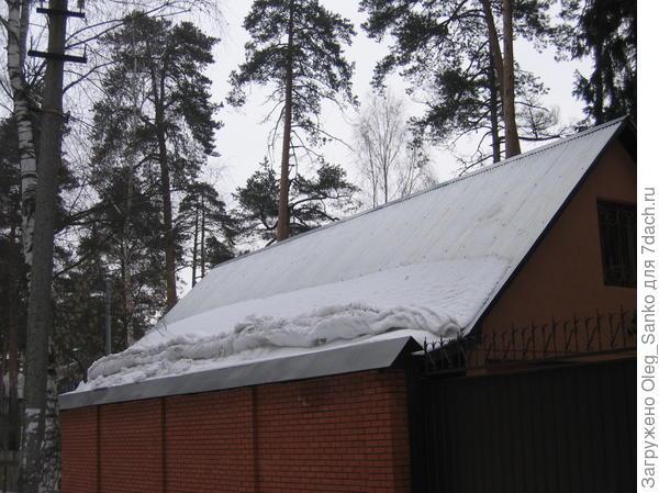 Вот от такого спада и берегут снегозадержатели