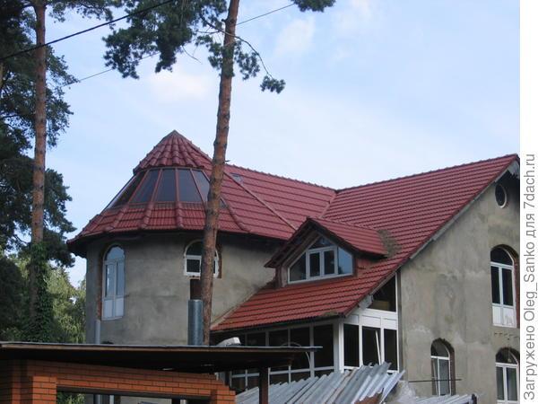 Пример выполнения черепичной крыши в ближнем Подмосковье