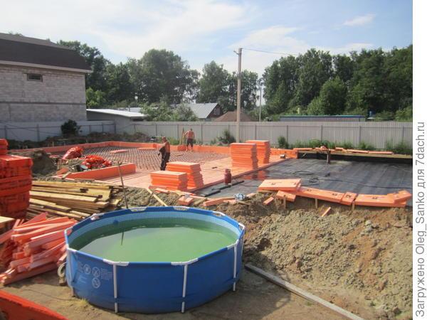 Сборный бассейн - отражение правильной организации труда на стройке