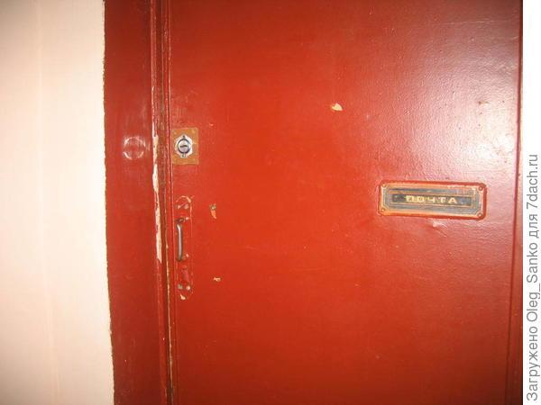 Дверь в доме Министрества промышленности строительных материалов. 1956 год